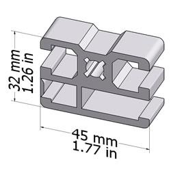 20.1053CLAMPPROFILE45X32L