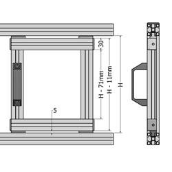 22.1159 GUIDE FOR SLIDING DOOR 30R2