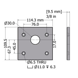 28.01129AdaptorPlateT45 90StandardL